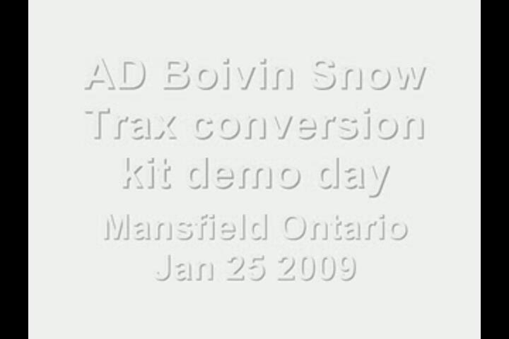 AD Boivin Snow Trax conversion