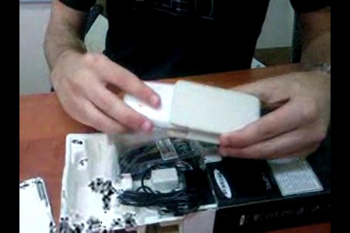 unboxing samsung magic touch