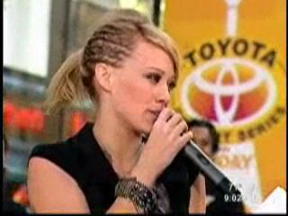 Hilary duff-Today show ראיון
