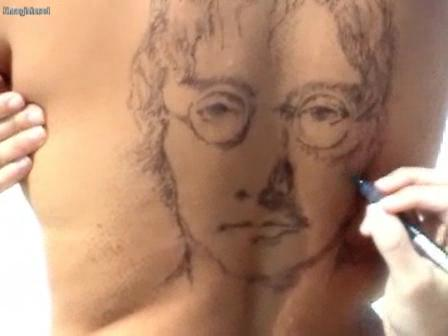 John Lennon Beach Painting