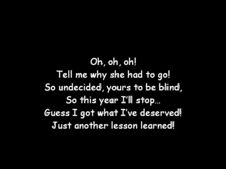 Iyaz - Lesson Learned (lyrics