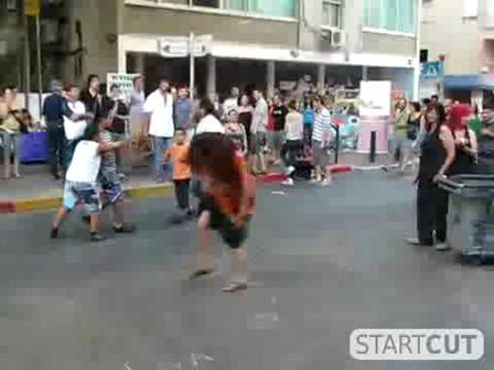 Dancing on Massada street