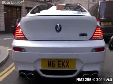 BMW M6 with Eisenmann Race Exhaust Accelerations a