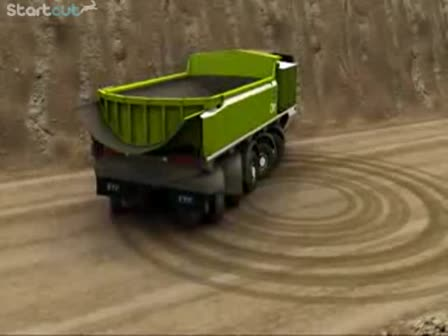 ETF Mining Trucks MT-240 full turning circle