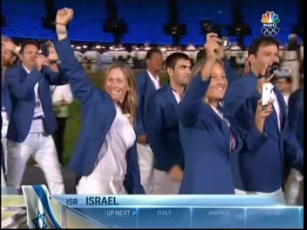 Israeli Deligation March- Olympics 2012- NBC
