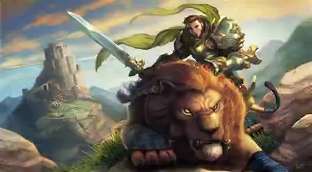 Warrior with lion heart