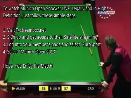 Munich Open 2013 Snooker - Day Two 2 - Live from Munich, Germany