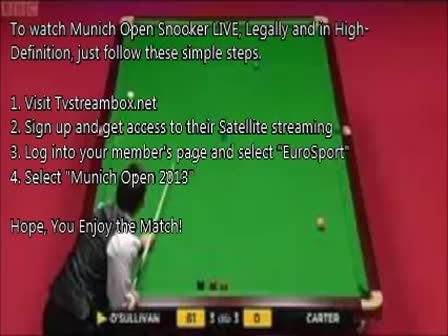 Munich Open Snooker 2013 - Day 2 - Live from Munich, Germany