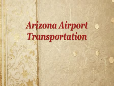 Arizona Airport Transportation