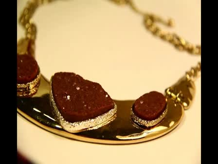 Goldfilled Pendant Solid Dangle Plate Women Necklace Inlay Shaped Stone House Chain